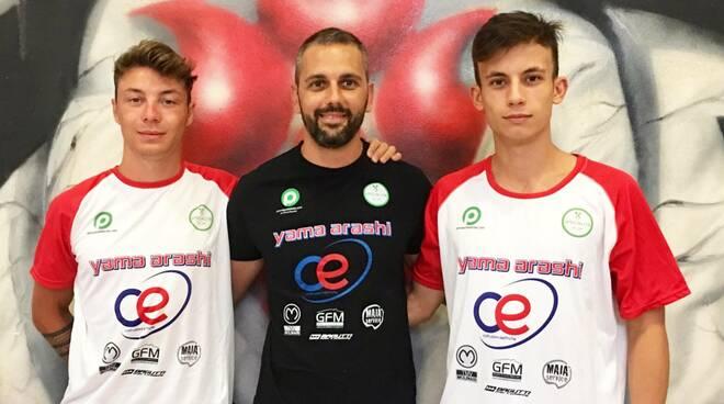 Nella foto, da sinistra Davide Colla, Adriano Passaro e Michele Semema