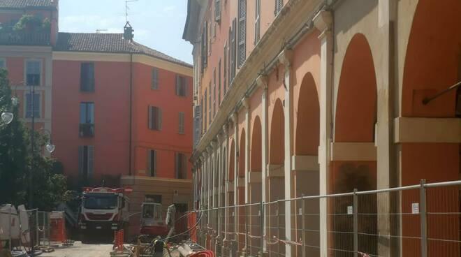Piazza Duomo trasformata in cantiere