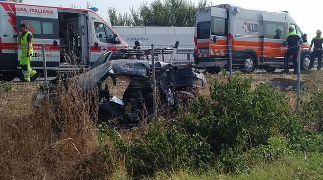 Incidente sull'A21 all'altezza di Castel San Giovanni
