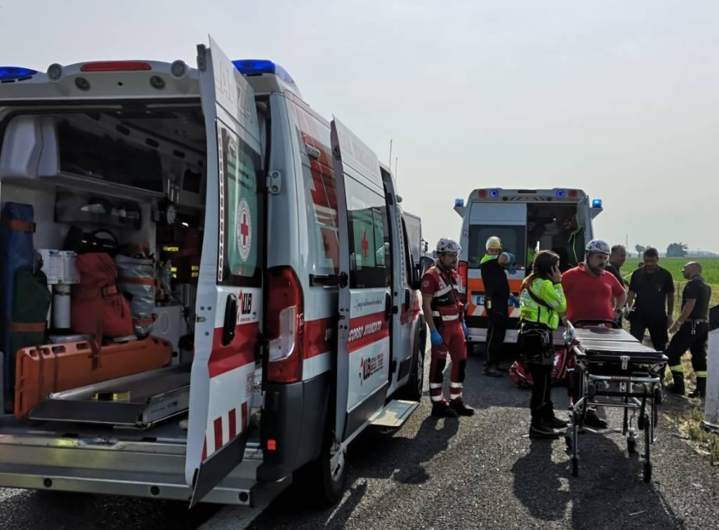 Incidente sull'autostrada A21 a Castel San Giovanni