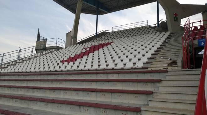 stadio Garilli seggiolini nuovi