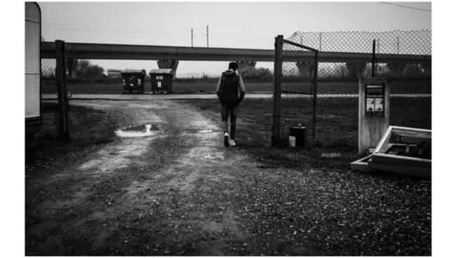 campo rom Piacenza (foto Sergio Ferri)