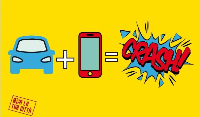cellulare alla guida la campagna del Comune