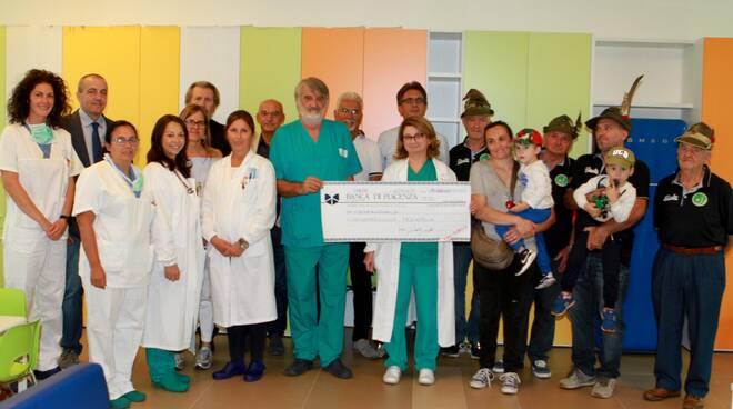 donazione Mezzano Scotti a Oncoematologia pediatrica