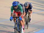 Francesco Lamon in maglia tricolore
