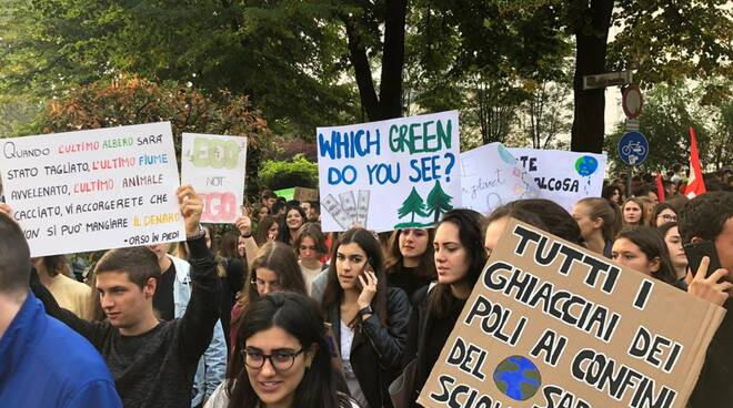 Il corteo di Fridays for Future a Piacenza