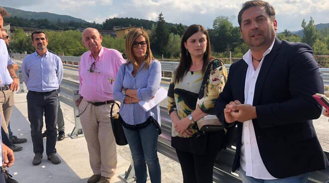 Il sopralluogo sul Ponte a Farini