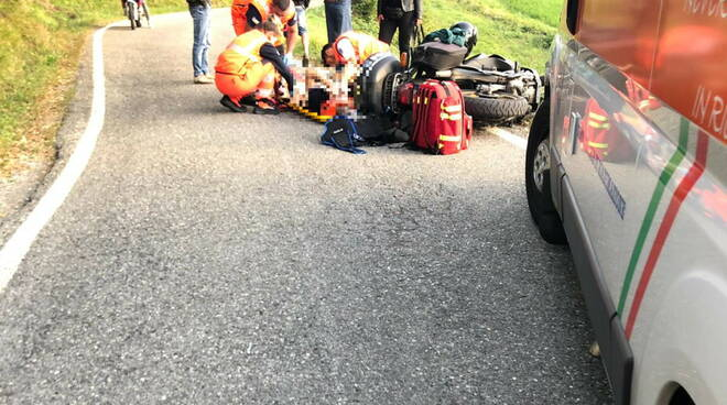 incidente moto a Piozzano