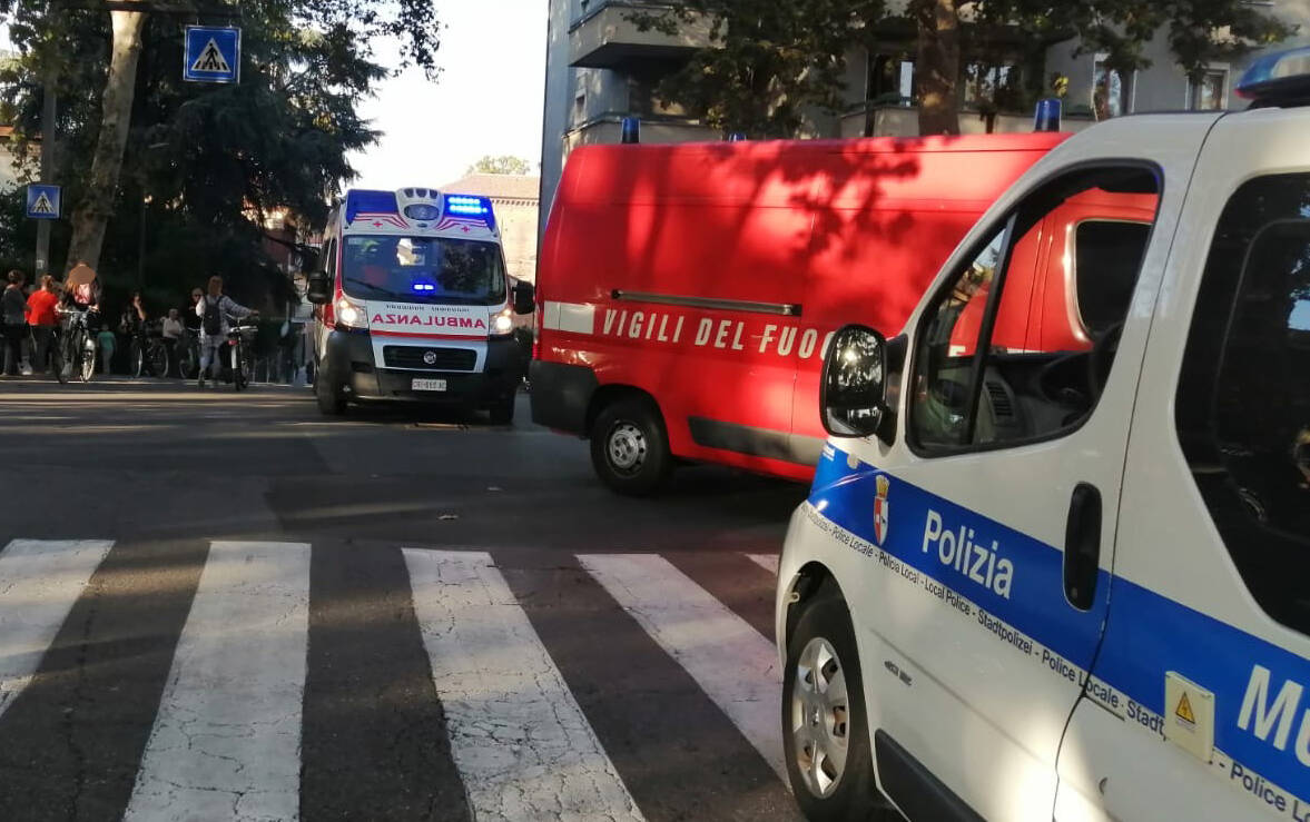 L'incidente in via Giordani