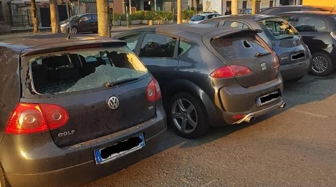 Macchine danneggiate a Borgonovo