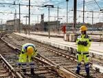 Manutenzione sui binari ferrovia
