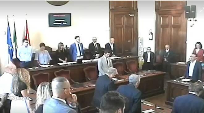 minuto di silenzio consiglio comunale Pomarelli