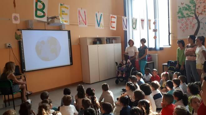 Papamarenghi primo giorno di scuola