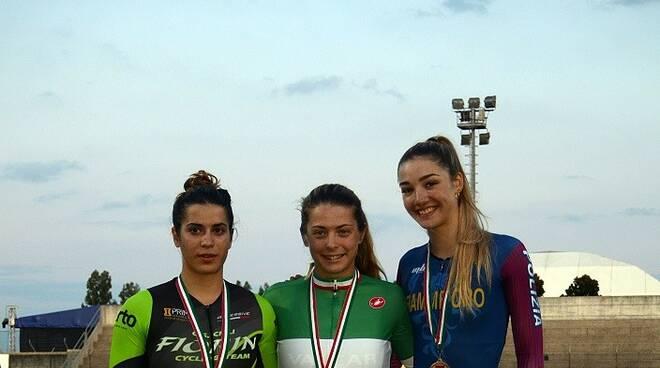 vincitrici campionati elite su pista al velodromo pavesi