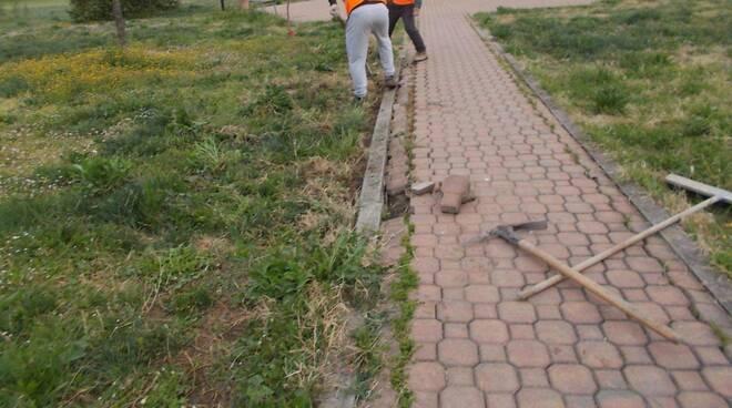 I lavori di manutenzione a Mucinasso