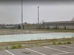 Il campo da basket di via Mezzadri a Rivergaro