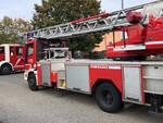 L'intervento dei vigili del fuoco a Gazzola