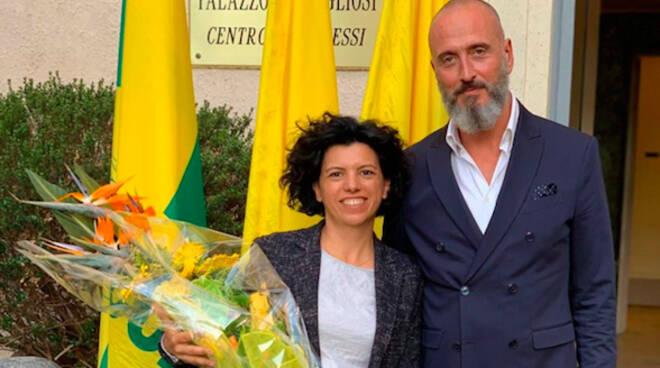 Nella foto il neodirettore Elisabetta Montesissa con il presidente Terranostra Diego Scaramuzza