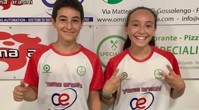 Nella foto, Lorenzo Galli e Alice Dotti (C.E. Yama Arashi)