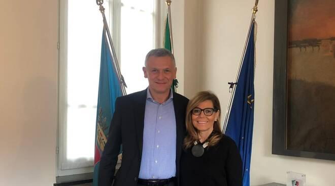 Patrizia Barbieri e Alessandro Piva, sindaco di Podenzano 2019