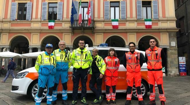 Sanitari in piazza Cavalli