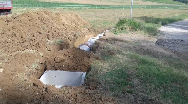 Uno degli interventi di regimazione idraulica a Carpaneto