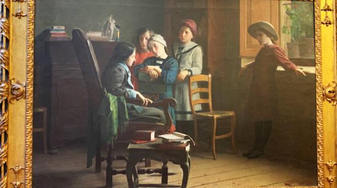 """""""Visita alla compagna convalescente"""" di Francesco Ghittoni"""