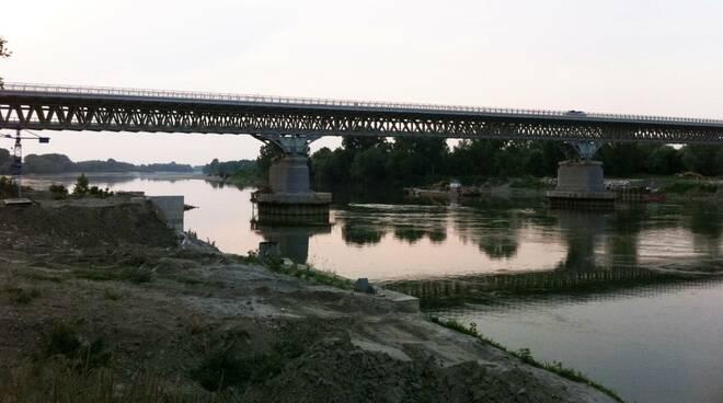 Fiume Po ponte
