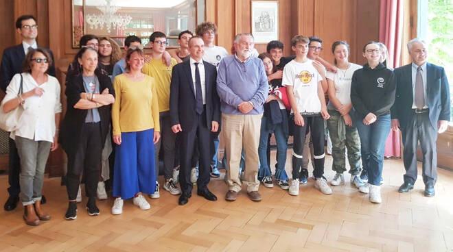 Gli studenti del Gioia all'ambasciata in Cile