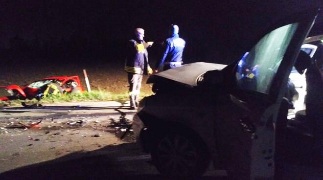 L'incidente sulla via Emilia a Rottofreno