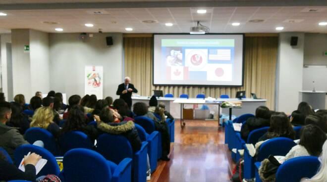 L'incontro con gli studenti dell'Università di Pisa
