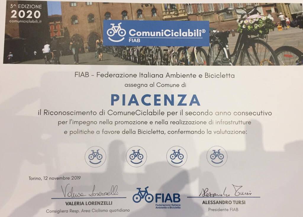 La premiazione Fiab