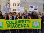 La protesta Coldiretti davanti a Montecitorio