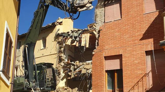 Le operazioni a Camerino dopo il sisma