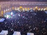 Bonaccini a piazza Maggiore