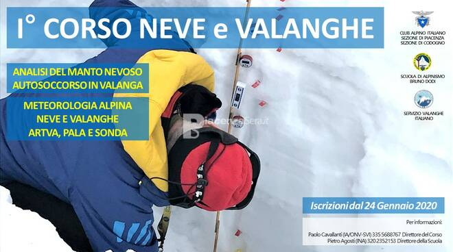 1° Corso Neve e Valanghe - Apertura iscrizioni