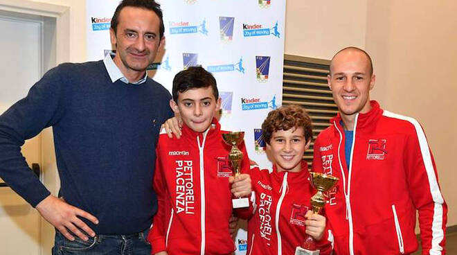 Da sinistra: Alessandro e Andrea Bossalini, Valentino e Francesco Monaco