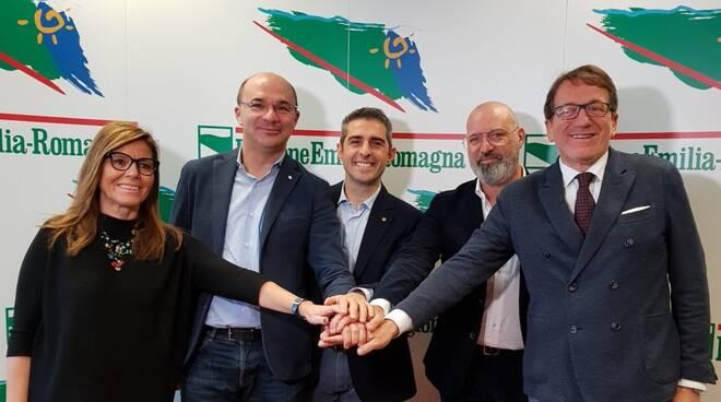 I sindaci di Piacenza, Parma, Reggio, Modena con Bonaccini