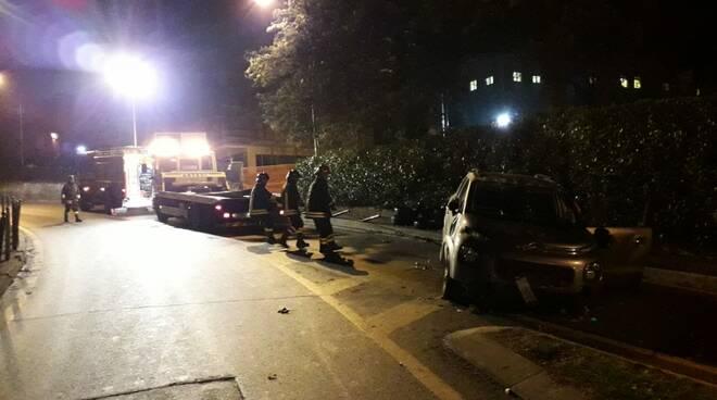 Incidente auto ribaltata a Bobbio
