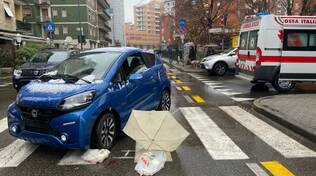 incidente pedone via Poggi