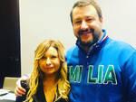 Lorella Cappucciati insieme a Matteo Salvini