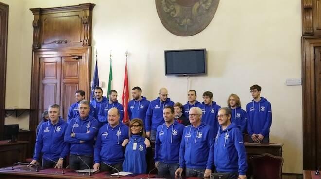 Piacenza Pallanuoto 2018 in aula consiliare col sindaco