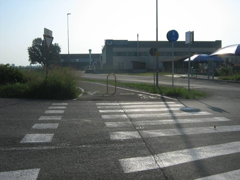 Pista ciclabile fra il nuovo ponte sul fiume Trebbia e Gragnanino