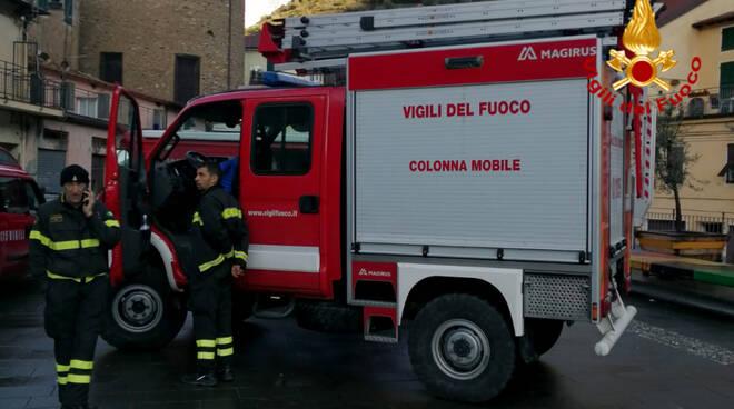 vigili del fuoco di Piacenza in Liguria
