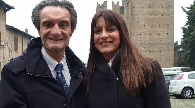 Attilio Fontana e Valentina Stragliati