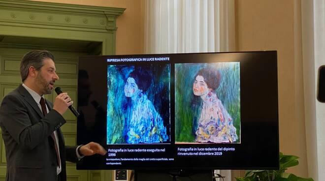 Autentico il Klimt ritrovato, conferenza stampa in Banca d'Italia