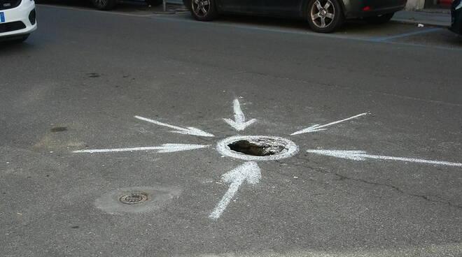 buca in via Beverora