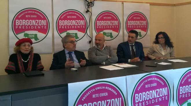 """I candidati della lista civica """"Borgonzoni Presidente"""""""