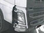Il camion danneggiato