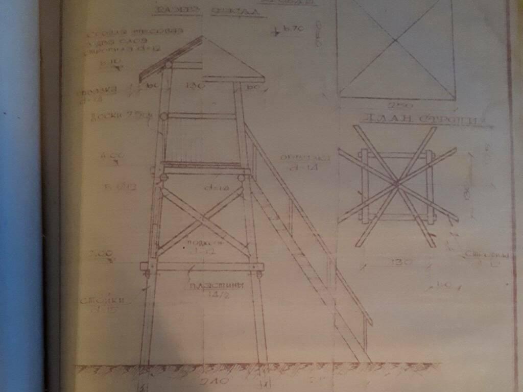 Il disegno della torre di avvistamento del gulag scoperto dal giornalista De Biase